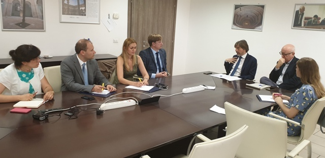 On July 29, 2019, NAQA delegation met with Director of Italian National Agency for the Evaluation of Universities and Research Institutes (ANVUR)